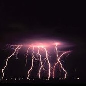 Lighting Bolts From a Hurricane