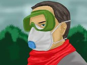 Wear goggles and a mask to protect your breathing and vision
