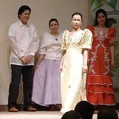 The traditional dress of the phillippines