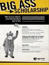 Big Ass Scholarship - $5,000