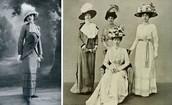 הכובעים והשמלות שלבשו בתקופת מלחמת העולם הראשונה