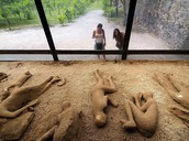 Are people still cleaning Pompeii from the destruction or are they leaving is be?