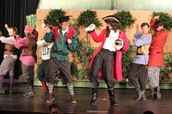 Captain Hook, Smee and the Pirates