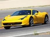 A yellow Ferrari