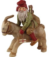 Tomte riding Goat