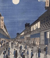 Night View of Saruwaka-machi from One Hundred Famous Views of Edo