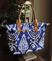 How Does She Do It: Navy Ikat (BRAND NEW) $45