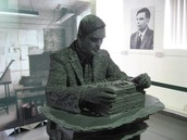 This is the statue of Alan turing
