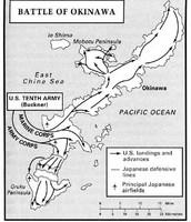 Battle of Okinawa Map