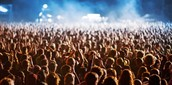 View of music fans