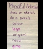 Co-created mindful activities