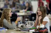 Students use their phones during free period