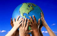 lets keep our hands together to save mother earth