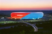 Außenseite die Allianz Arena