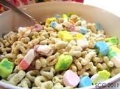La cereal de Lucky Charms (trienta y seis pesos y nueve centavos)