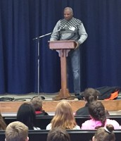 Mr. Hicklin sharing with students on Enrichment Day!