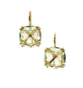 Cushion drop earrings mint,  £29