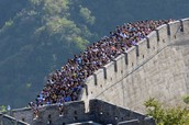 What is the Great Wall of China made from?