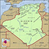 Geographic- Map of Algeria