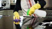 Clean and disinfect commonly used surfaces