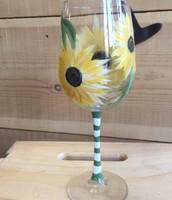 Sunflower Wine glasses Customer Favorite $35.00 for two