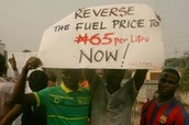 Protesters in Nigeria.