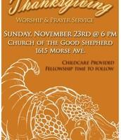 Thanksgiving Worship and Prayer Service