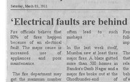 Electrical faults are behind 80% of fires
