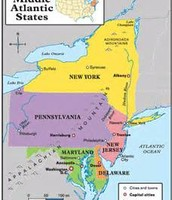 Mid Atlantic States of the Northeast region