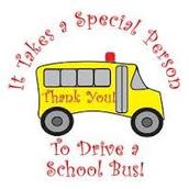 Bus Driver Appreciation Week is October 17-21
