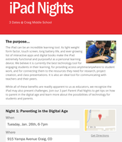 DigiParents iPad Nights Flyer & RSVP