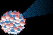 איור של קרינת גמא מגרעין אטום