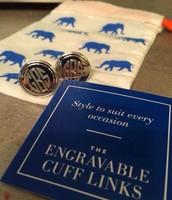 Signature Engravable Cufflinks $98