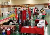 The CIA International Day market stalls