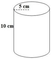 How to find surface area of a cylinder