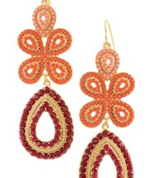 Capri Chandelier Earrings - Coral