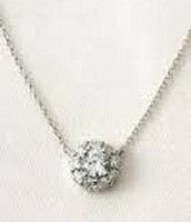 Glint Flower CZ Necklace. Retail $39.  Sale Price $19.