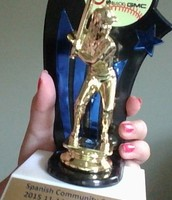 My 1st place softball trophy