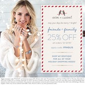 Friends and Family Receive 25% off!!