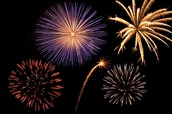 We light off good fireworks, not sparklers or fountains