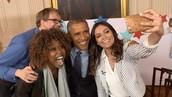 Bethany meeting Obama