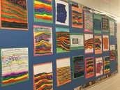 Contour Colours by Mr. McLeod's Gr. 4/5 Class