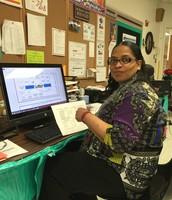 Ms. Dennis at Kleberg Elementary Analyzing Data