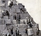 People Climbing the Pyramids