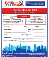 FALL SOCCER IS HERE FOR EARLY BIRDS AND PAS!!!!