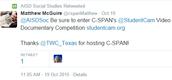 C-SPAN invites Austin ISD to enter Student Cam!