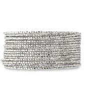 Bardot Spiral Bangle - Silver