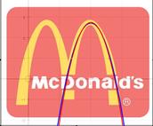 Parabola's make McDonald's logo