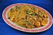 Singapore rice noodles with - chicken