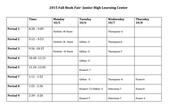 Junior High Book Fair